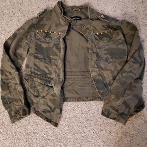 New look camo cropped jacket